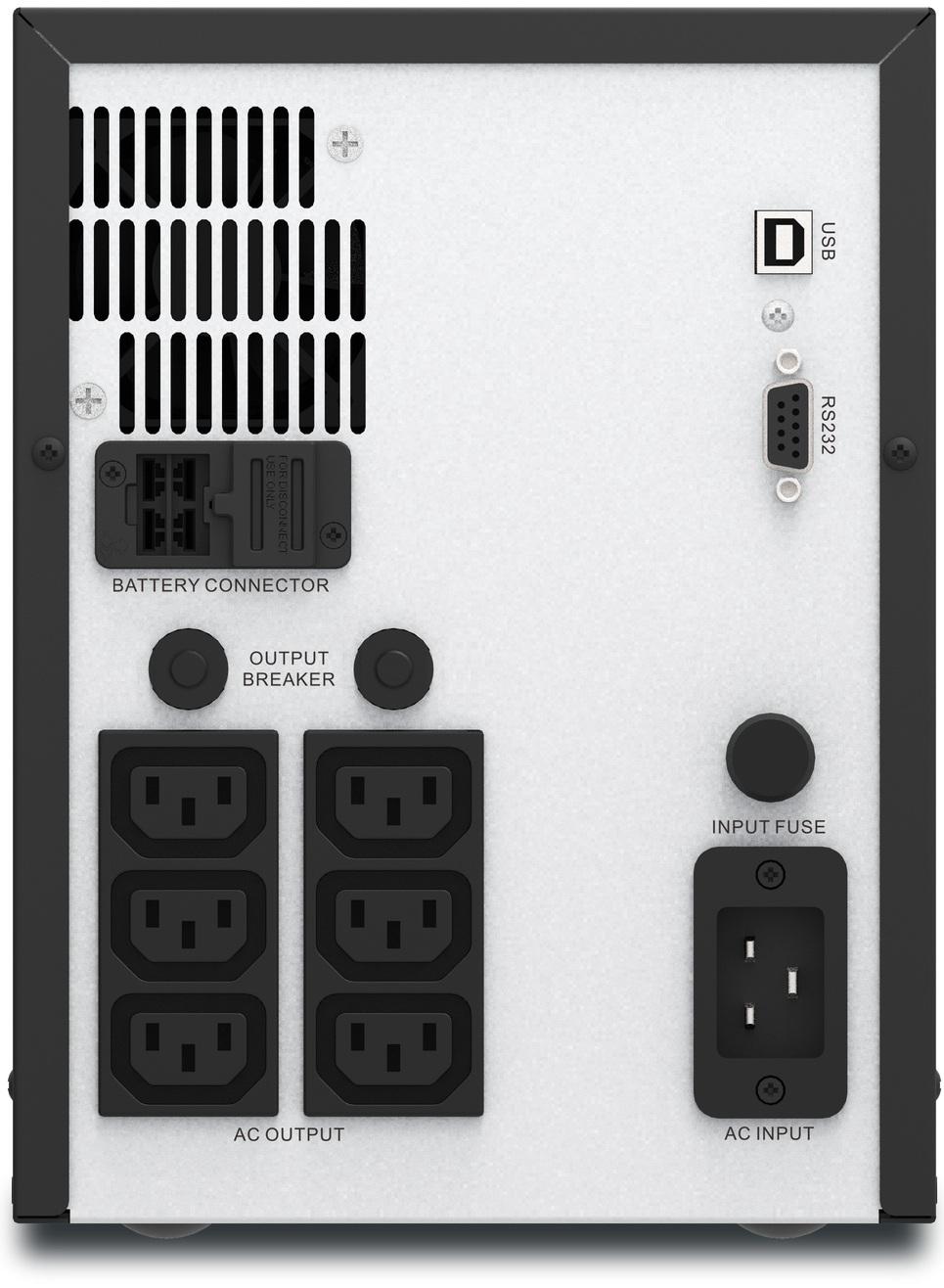 APC Easy UPS SMV3000AI Rear