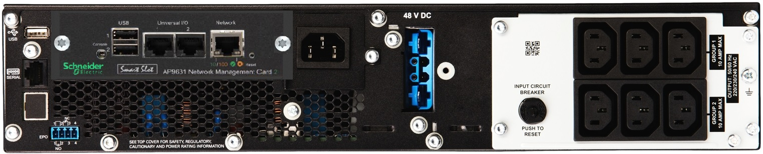 APC by Schneider Electric SRT1500RMXLI-NC Rear