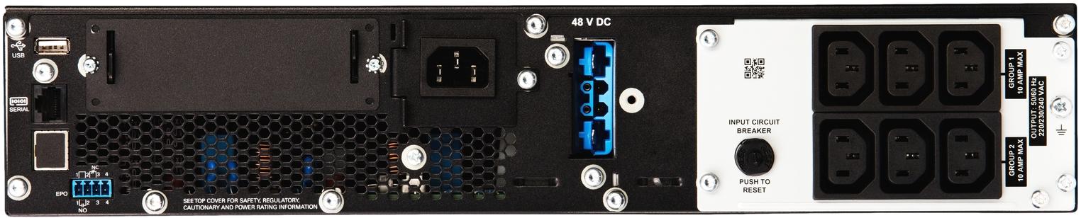 APC by Schneider Electric SRT1500RMXLI Rear