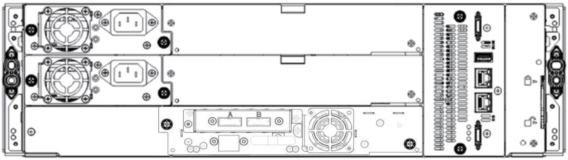 Fujitsu ETERNUS LT140 Tape Library Rear