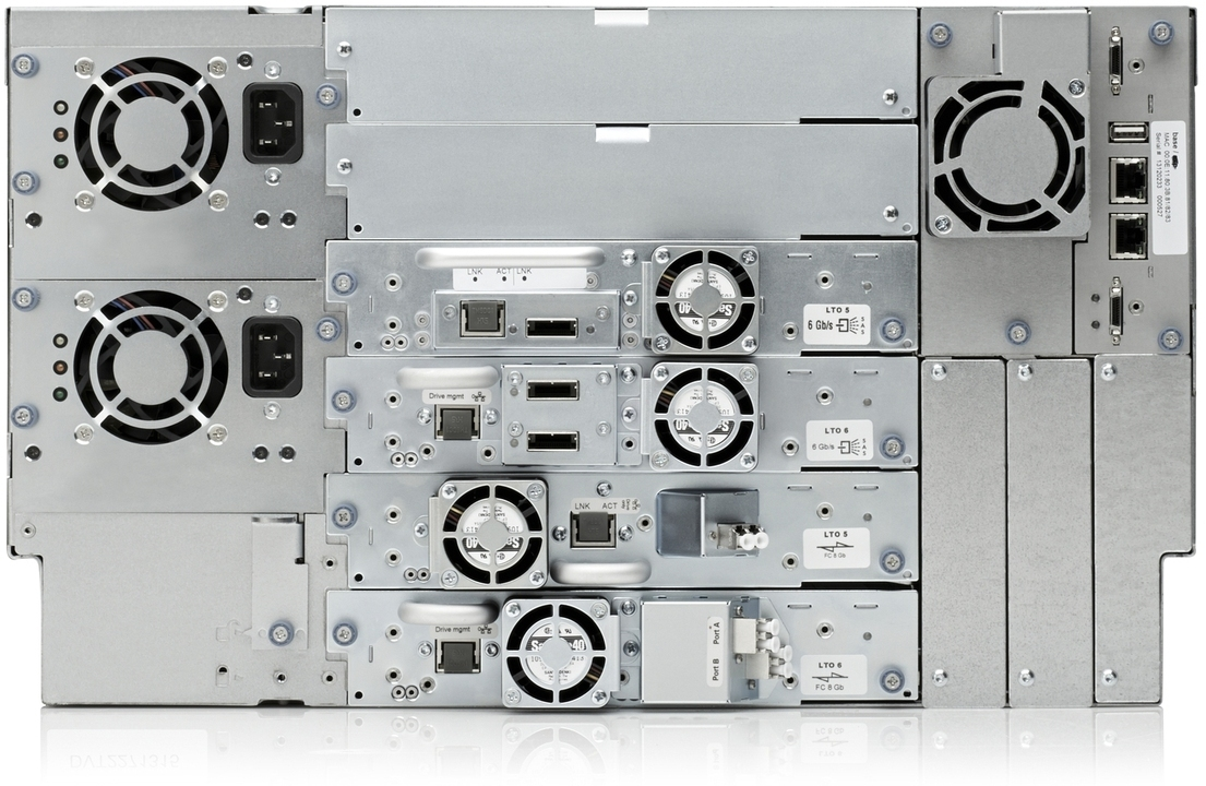 HPE StoreEver MSL6480 Rear